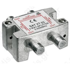 VT03 Splitter 3 Εξόδων 5-2450MHz Με διέλευση τάσης