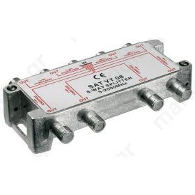 VT08 Splitter 8 Εξόδων 5-2450MHz Με διέλευση τάσης