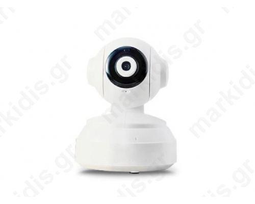 Κάμερα Ρομποτική IP ANGA AQ-7107VBW (Λευκή) 1/4 CMOS 720P 1 MP, Υψηλής ανάλυσης, H.264, ONVIF, Φακός 3,6mm, 10 IR Led Απόσταση 10 μέτρα, microSD, P2P, LAN, WiFi (Περιλαμβάνει τροφοδοτικό 5V/1A)