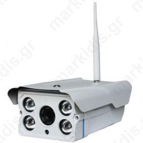 Κάμερα IP ANGA AQ-7108VSW 1/4 CMOS 720P 1 MP, Υψηλής ανάλυσης, H.264, ONVIF, Φακός 4mm, 4 IR Led Απόσταση 50 μέτρα, 12V, microSD, P2P, LAN, WiFi (Περιλαμβάνει βάση στήριξης, ΔΕΝ περιλαμβάνει τροφοδοτικό 12V/1A)