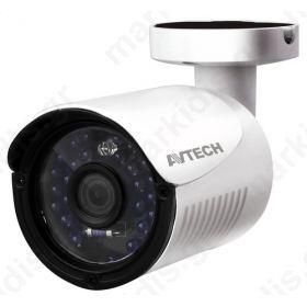 Kάμερα AVTECH AVT1105TP TVI 1/2,7 CMOS 1080P, Φακός 3.6mm, ΙR Led 24PCS, 20 μέτρα, Αδιάβροχη IP66, 12V, 1Alarm In, 1 Alarm Out, Mεταλλική, Μικτό Βάρος: 360gr