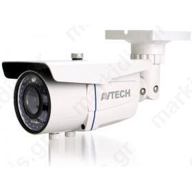 Kάμερα AVTECH AVT1205T TVI 1/2,7 CMOS 1080P, Φακός 2.8 - 12mm, ΙR Led 36PCS, 25 μέτρα, Αδιάβροχη IP66, 12V, 1Alarm In, 1 Alarm Out, Mεταλλική, Μικτό Βάρος: 420gr