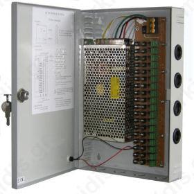 Σταθεροποιημένο τροφοδοτικό 12V / 10A / 120W, 18 εξόδων, ANGA CP1209-10A-18