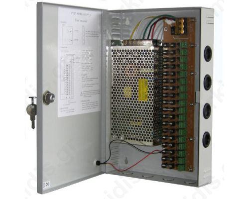 Σταθεροποιημένο τροφοδοτικό 12V / 15A / 180W, 18 εξόδων, CP1209-15A-18