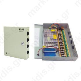 Σταθεροποιημένο τροφοδοτικό 12V / 20A, 18 εξόδων ANGA CP1209-20A-18