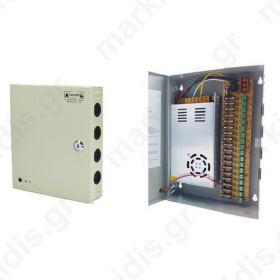 Σταθεροποιημένο τροφοδοτικό 12V / 30A, 18 εξόδων ANGA CP1209-30A-18