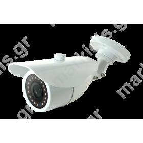 ΚΑΜΕΡΑ ANGA AQ-4103-NS4 BULLET (4in1) AHD/CVI/TVI/CVBS 1MP 1/4 OV9732+NVP2433H 720P 18pcs SMD IR LED 20MTR 2.8mm ΑΔΙΑΒΡΟΧΗ ΜΕΤΑΛΛΙΚΗ IP66