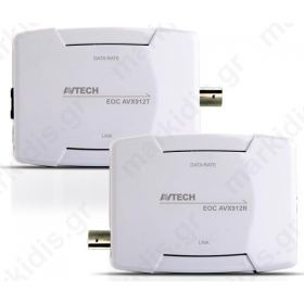 AVTECH AVX912 KIT EoC (Ethernet over Coaxial) (Πομπός-Δέκτης)