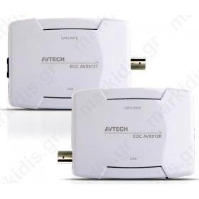 AVTECH AVX912 KIT EoC (Ethernet over Coaxial) (Πομπός-Δέκτης)
