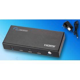 Power Plus PS301HD Επιλογέας HDMI, 3 Εισόδων - 1 Εξόδου με τηλεχειριστήριο & Τροφοδοτικό