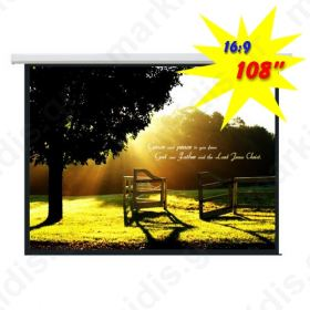 BRATECK Ηλεκτρική Projector Screen PSAA108 2,40μ x 1,35μ