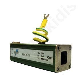 RJ11 προστασία υπέρτασης για Modem-Router, Συναγερμούς & Τηλεφωνικές συσκευές