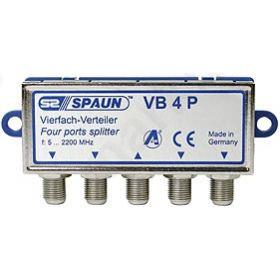 SPAUN VB4P Splitter 4 Εξόδων Με διέλευση τάσης 842217