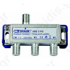 SPAUN VBE3PD Splitter 1/3 Εξόδων Με διέλευση τάσης 842226