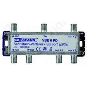 SPAUN VBE6PD Splitter 1/6 Εξόδων Με διέλευση τάσης 842230