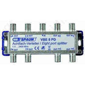 SPAUN VBE8PD Splitter 1/8 Εξόδων Με διέλευση τάσης 842232
