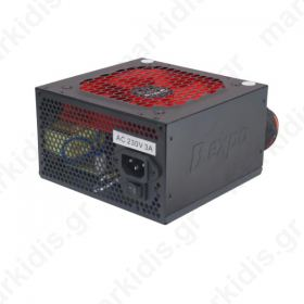 Τροφοδοτικό 550w Dexpo 12cm red fan Black Bulk