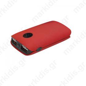 Φορητός Φορτιστής Platinet 5000mA   micro USB καλώδιο Power Bank κόκκινο