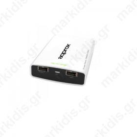 Φορητός Φορτιστής Approx PB78EVW 7800mA Power Bank λευκό