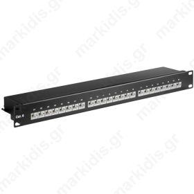 93048 CAT6 ETHERNET PATCH PANEL 24PORT STP BLACK