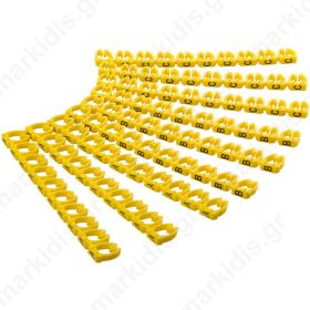 72518 CABLE MARKER CLIPS LETTERS A-C, 6mm