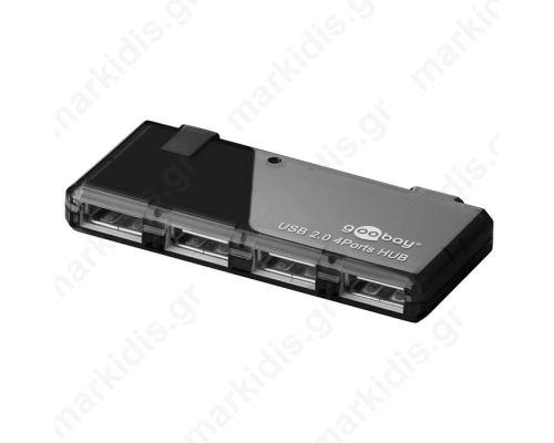 95670 4 PORT USB 2.0 HI-SPEED HUB BLACK
