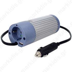 HQ-INV100U-12 INVERTER+USB 100W 12VDC -> 230VAC