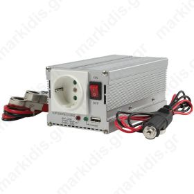 HQ-INVERTER 300WU-12V INV. 12>230V+USB