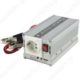 HQ-INVERTER 300WU-24V INV. 24>230V+USB