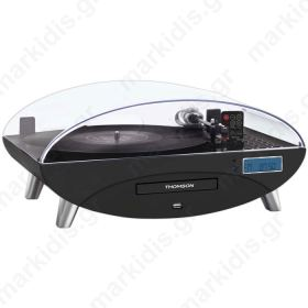THOMSON TT400CD 3 SPEED TURNTABLE WITH CD/MP3 BLACK