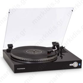THOMSON TT200BT BLACK AUTOMATIC BLUETOOTH TURNTABLE
