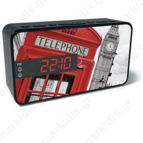 BIGBEN RR15 TB2 FM RADIO AND ALARM WITH LED DISPLAY