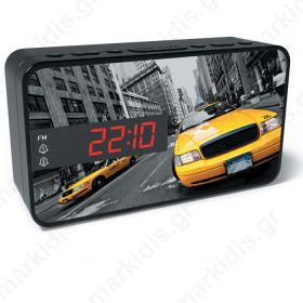 BIGBEN RR15 TAXI FM RADIO AND ALARM WITH LED DISPLAY