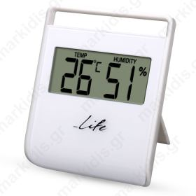 LIFE WES-102 Thermometer with hygrometer,White