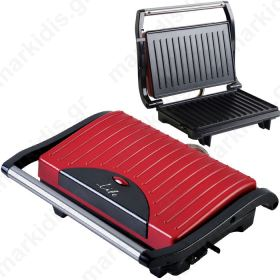 LIFE STG-101 RED Sandwich toaster with grill plates,700W
