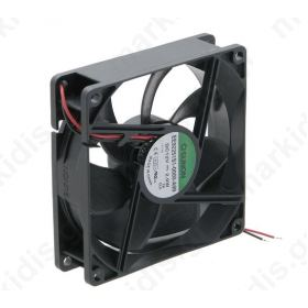 Fan DC axial 12VDC 92x92x25mm 87.55m3/h 34dBA