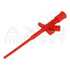 AX-CP-07-R Clip-on probe; pincers type; 10A; red; Grip capac: max.4mm; 4mm