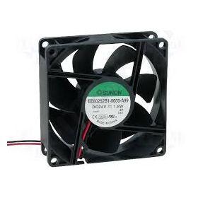 DC axial 24VDC 80x80x25mm