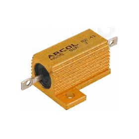 HS25 Series Aluminium Housed Axial Panel Mount Resistor, 10O ±5% 25W