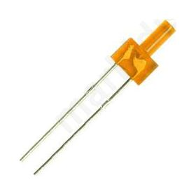 LED 2mm orange 150-220mcd 90° Front: flat 1.8-2.6V