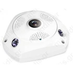 Κάμερα IP ANGA AQ-7102VFW 1/4 CMOS 720P 1 MP, Υψηλής ανάλυσης, H.264, Φακός 1.44mm FishEye, 3 IR Led Απόσταση 10 μέτρα, SD, LAN, WiFi
