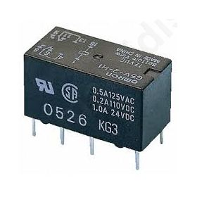 Relay: electromagnetic DPDT Ucoil: 24VDC 0.5A/125VAC
