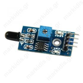 Sensor: flame infrared analog-digital 3.3x5VDC IC LM393 60°