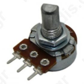 Potentiometer shaft single turn 100ΚΩ 125mW