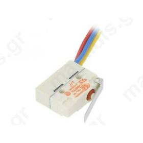 Microswitch SNAP ACTION with pin SPDT 5A/250VAC ON-(ON) ROH