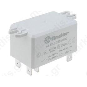 Ρελέ βιομηχανικό 2 επαφών 12VDC max:30A 6682