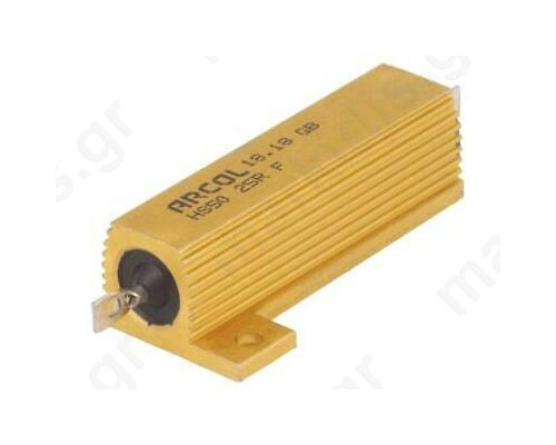 HS50 Series Aluminium Housed Axial Panel Mount Resistor, 22Ω ±1% 50W