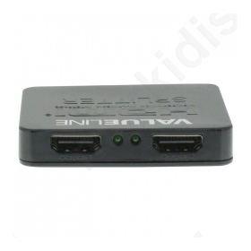 2-port HDMI splitter HDMI input - 2x HDMI output black
