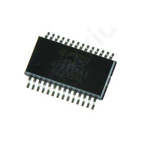 FT232RL, Universal Asynchronous Receiver & Transmitter 3MBd, 28-Pin, SSOP
