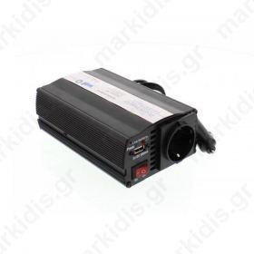Inverter 150W 12V DC σε 220V AC WELL με θύρα USB